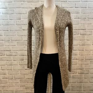 Maurices light brown chunky knit hooded cardigan